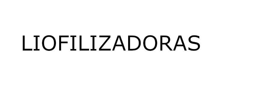 LIOFILIZADORAS
