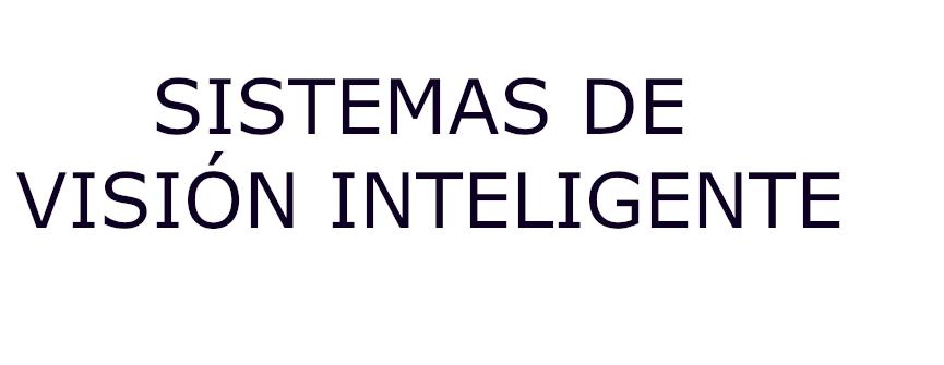 SISTEMAS DE VISIÓN INTELIGENTE